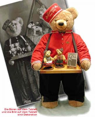 Großer Liftboy - 92 cm  Teddybär von Hermann-Coburg