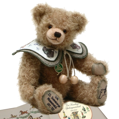 23. Sonneberger Museuemsbär 2016 38 cm Teddybär von Hermann-Coburg