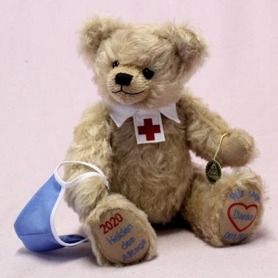 2020 – Everydays heroes – We say thank you 33 cm Teddy Bear by Hermann-Coburg