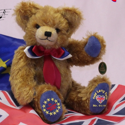 Final Brexit Musical Bear - A Piece of History 34 cm Teddy Bear by Hermann-Coburg