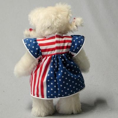 Patriotism Girl 33 cm Mohair  Teddybär von Hermann-Coburg