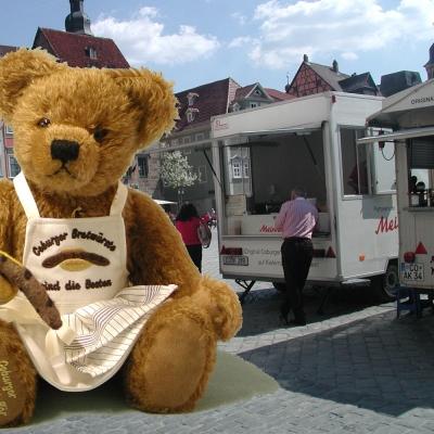 Bratwurstbär 37 cm Teddy Bear by Hermann-Coburg