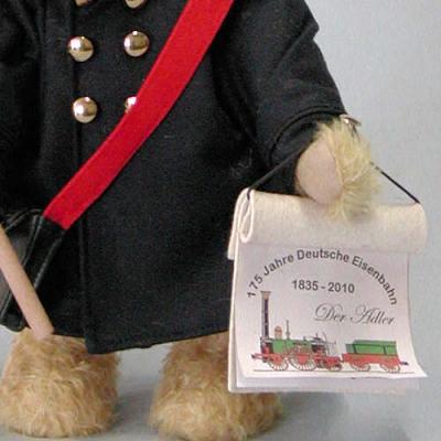 Eisenbahner 37 cm Teddybär von Hermann-Coburg