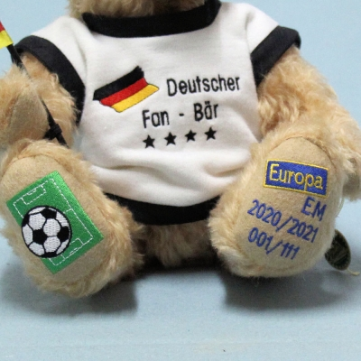 Deutscher Fan Bär EM 2020/2021 35 cm Teddy Bear by Hermann-Coburg