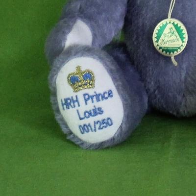 HRH Prince Louis  A little Prince is born 30 cm Teddybär von Hermann-Coburg