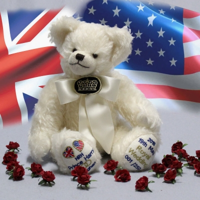 Royal Wedding Bear 2018  HRH Prince Harry and Meghan  35 cm Teddy Bear by Hermann-Coburg