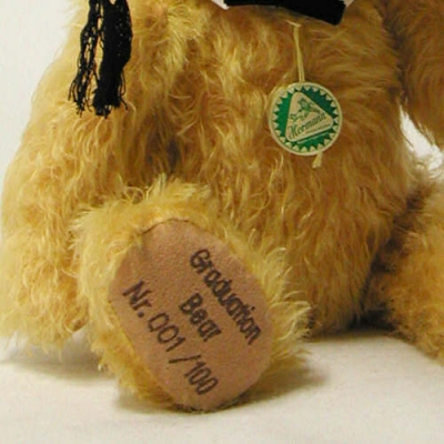Graduation Bear Teddy Bear by Hermann-Coburg