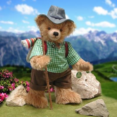 Der fröhliche Wanderer – Happy Wanderer  cm Teddybär von Hermann-Coburg