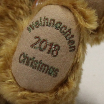 HERMANN Weihnachtsbär 2018 34 cm Teddybär von Hermann-Coburg