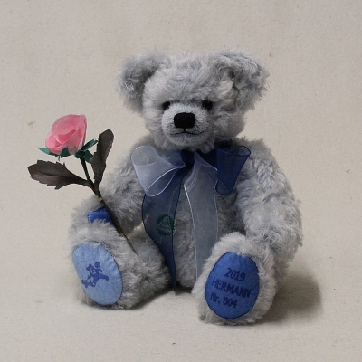 Annual Bear 2019 Reverie in Blue 35 cm Teddy Bear by Hermann-Coburg