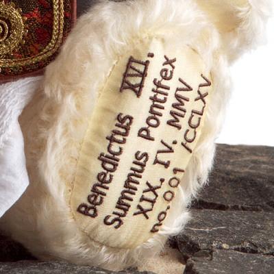 Papst Benedikt XVI Teddy Bear by Hermann-Coburg