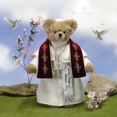 Summus Pontifex Franciscus Masterpiece Teddybär von Hermann-Coburg