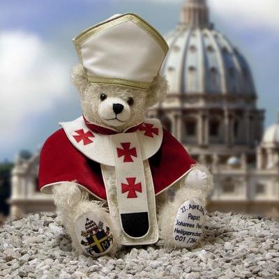 Papst Johannes Paul II - Heiligsprechung Teddybär von Hermann-Coburg