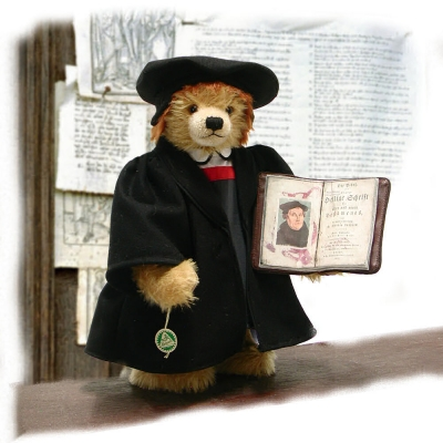 Reformationsteddy Dr. Martin Luther 40 cm Teddy Bear by Hermann-Coburg