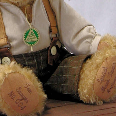 Tom Sawyer Teddy Bear by Hermann-Coburg