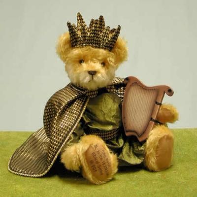 König David Teddy Bear by Hermann-Coburg