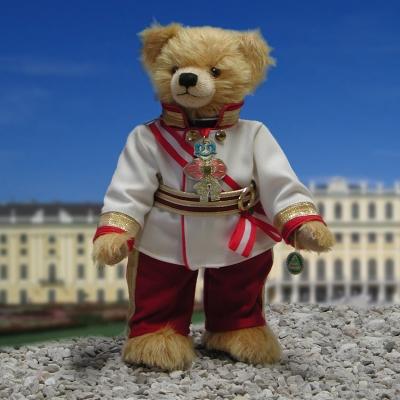 Kaiser Franz Joseph I von Österreich 40 cm Mohair  Teddybär von Hermann-Coburg