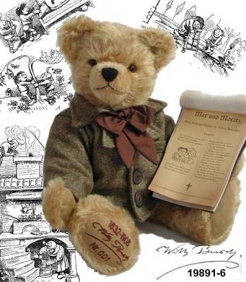 Wilhelm Busch Teddy Bear by Hermann-Coburg