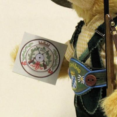 Bavarian Marksmens King 36 cm Teddy Bear by Hermann-Coburg