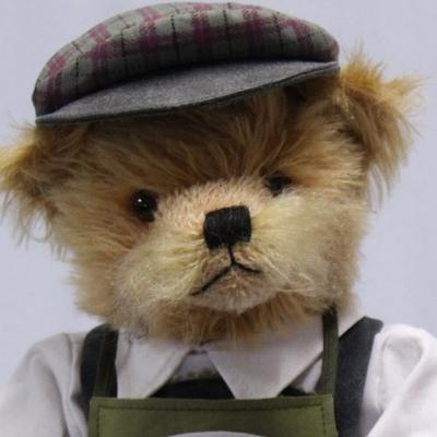 Master of Bratwurst Rosting 37 cm Teddy Bear by Hermann-Coburg