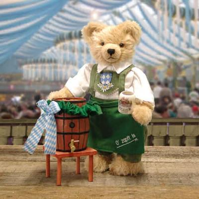Oktoberfest Wiesnwirt Ozapft is  Teddy Bear by Hermann-Coburg