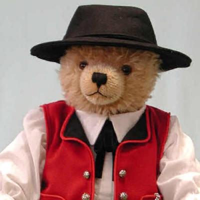 Schwarzwaldjunge Black Forest Boy  Teddybär von Hermann-Coburg
