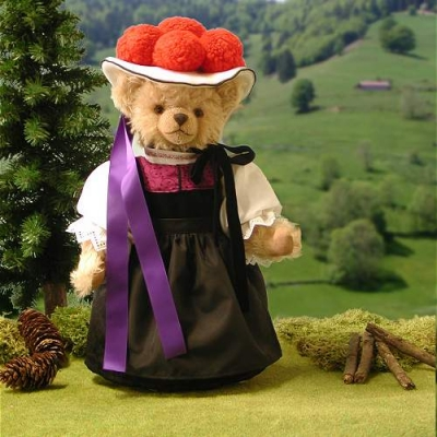 Schwarzwaldmädel Black Forest Girl Teddy Bear by Hermann-Coburg