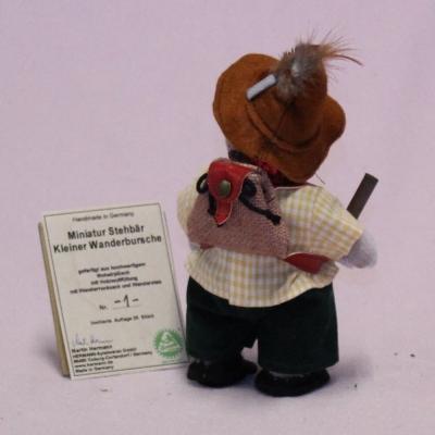 Miniatur Stehbär Kleiner Wanderbursche 17 cm Teddy Bear by Hermann-Coburg