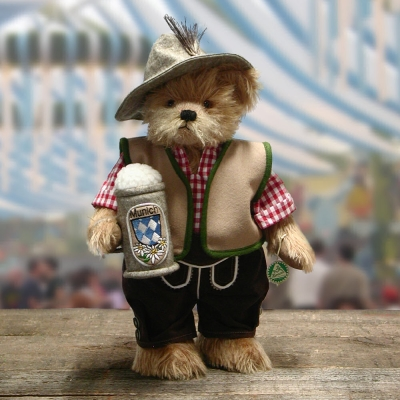 Bayern Schorsch - Happy Oktoberfest 35 cm Teddy Bear by Hermann-Coburg
