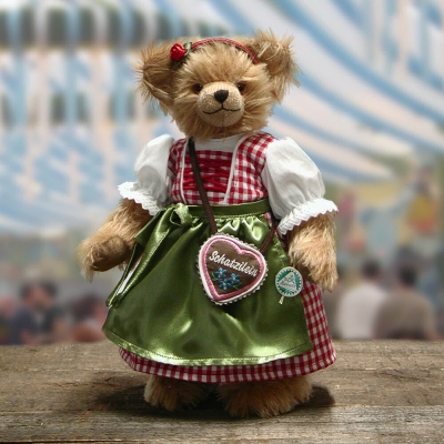 Trachten Rosi - Happy Oktoberfest 35 cm Teddy Bear by Hermann-Coburg