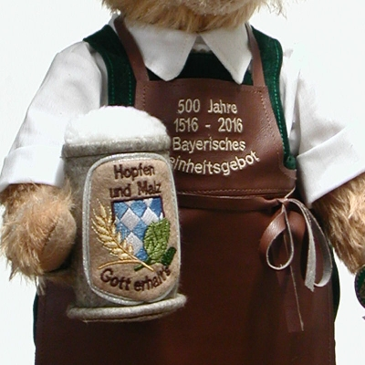 Bavarian Beer Brewer 37 cm Teddy Bear by Hermann-Coburg