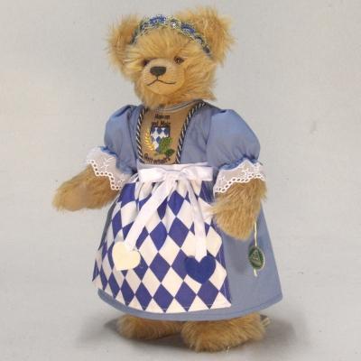 Bayerische Bierkönigin 37 cm Teddybär von Hermann-Coburg