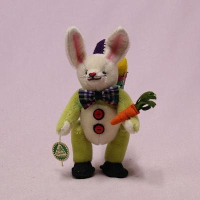 Standing miniature Easter Bunny Gustav 16 cm Teddy Bear by Hermann-Coburg