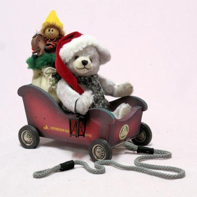 Santa Mobile 23 cm Teddy Bear by Hermann-Coburg