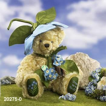 Forget-me-not Teddy Bear by Hermann-Coburg