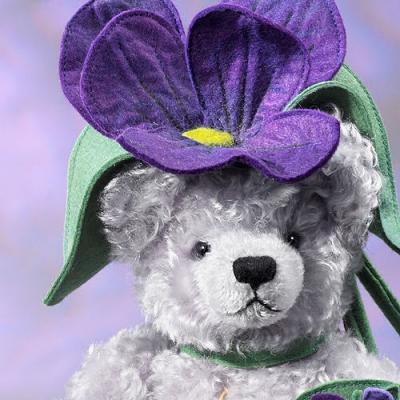 Violet Teddy Bear by Hermann-Coburg
