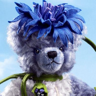Cornflower - Kornblume Teddy Bear by Hermann-Coburg