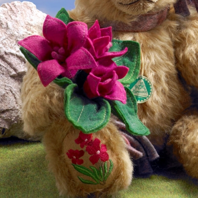 Alpenrose - Alpine Rose Teddy Bear by Hermann-Coburg