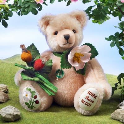 Heckenrose Wild Rose Teddy Bear by Hermann-Coburg