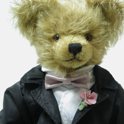 Hochzeitsbär - Bräutigam Teddy Bear by Hermann-Coburg