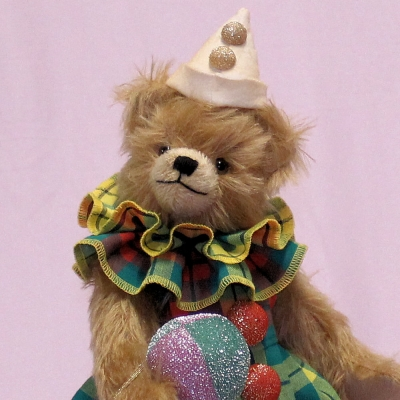 Clownelinchen Sweet Bebolina 33 cm Teddybär von Hermann-Coburg