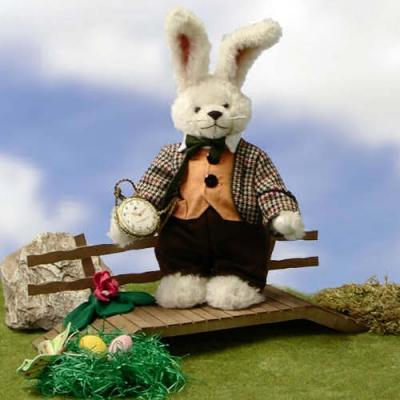 White Rabbit Teddy Bear by Hermann-Coburg