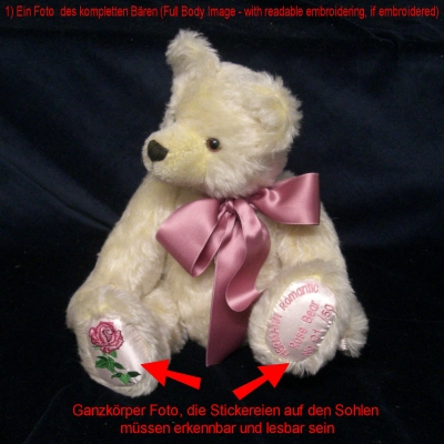 Replacement Certificate of Authenticity for HERMANN-Coburg Bears produced later than 1993