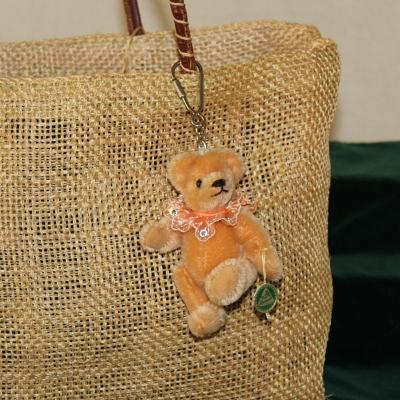 Teddy-Pendant Gold-brown Miniature- Mohair-Teddy Piccolo 11 cm Teddy Bear by Hermann-Coburg