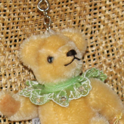 Teddy-Pendant Honey-yellow Miniature- Mohair-Teddy Piccolo 11 cm Teddy Bear by Hermann-Coburg