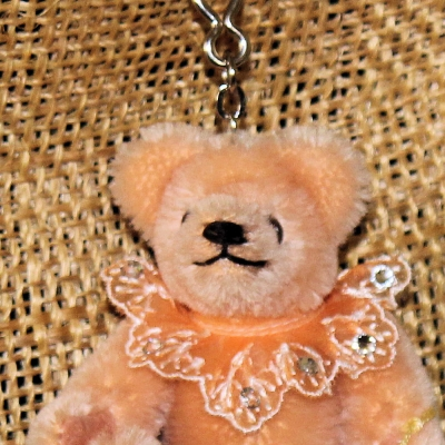 Teddy-Pendant 2019 Miniature- Mohair-Teddy Piccolo 11 cm Teddy Bear by Hermann-Coburg