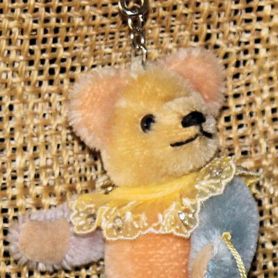Teddy-Pendant multicolore of 6 different colours Miniature- Mohair-Teddy Piccolo 11 cm Teddy Bear by Hermann-Coburg