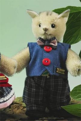 Miniatur Steh-Katze Junge Teddy Bear by Hermann-Coburg