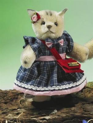 Miniatur Steh-Katze Mädchen Teddybär von Hermann-Coburg