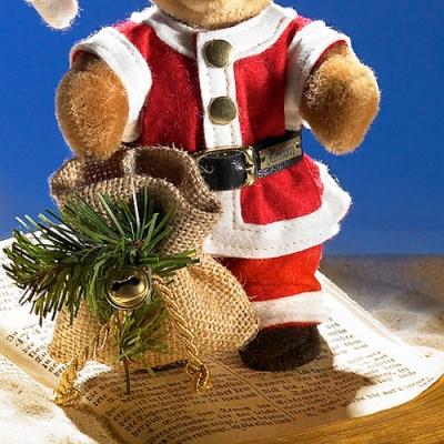 Miniatur Steh-Bär Santa Teddybär von Hermann-Coburg